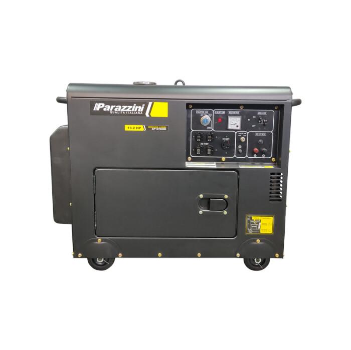 Parazzini GP137000D Generador Monofásico 110 / 220 V 7000W con motor a diésel 13.2 Hp