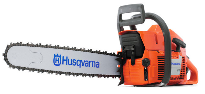 "Husqvarna 61-20P Motosierra de 20"" de corte con barra piñón"